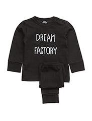 2 piece set - BLACK (DREAM FACTORY)