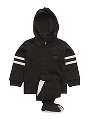 taylor set with footed pants - BLACK