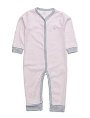 baby jumpsuit - BABY PINK/ GREY
