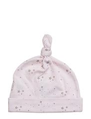 tossie hat - BABY PINK/ GREY STARS