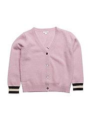 v-neck cashmere cardigan - PINK ROSE/SLEEPING CUTIE