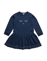 sweatshirt dress - SLEEPING CUTIE/NAVY