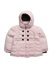 ivy puffer coat - BABY PINK