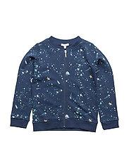 zip up sweatshirt - OUTER SPACE