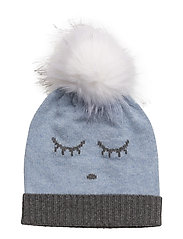 cashmere hat - BLUE/ SLEEPING CUTIE