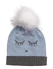 cashmere hat - BLUE/ SLEEPING CUTIE