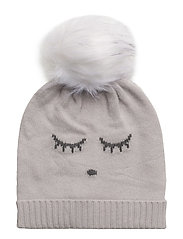 cashmere hat - CREAM/ SLEEPING CUTIE
