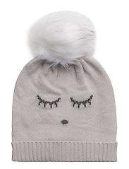 cashmere hat - CREAM/ SLEEPING CUTIE