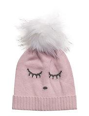 cashmere hat - PINK ROSE/SLEEPING CUTIE
