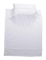 bedding set - WHITE/SILVER DOTS