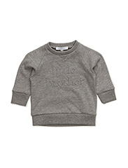 little brother sweattshirt - MELANGE GREY