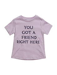 you got a friend right here t-shirt - LAVANDER FOG