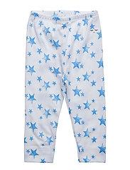 leggings - NEON BLUE STARS