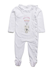 ruffled collared footie - PINK ELEPHANT PLACEMENT