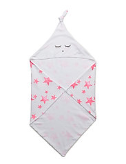 blanket with hoody - HOT PINK STARS