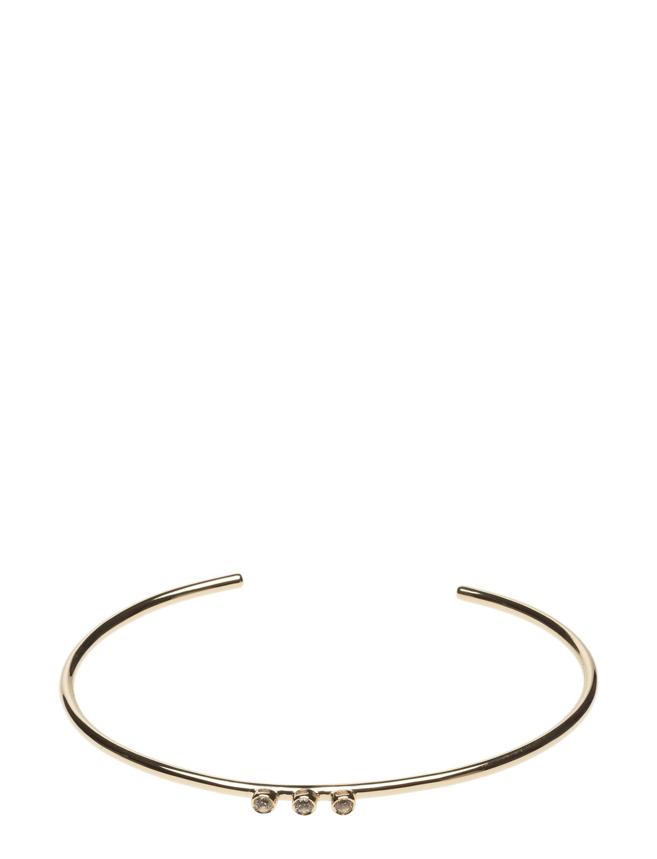 Cuff Tube 2mm 3 Stone Bracelet Lola's Love Smykker til Kvinder i Guld