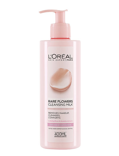 RARE FLOWER CLEANSING MILK DRY SKIN, 400 ML - CLEAR