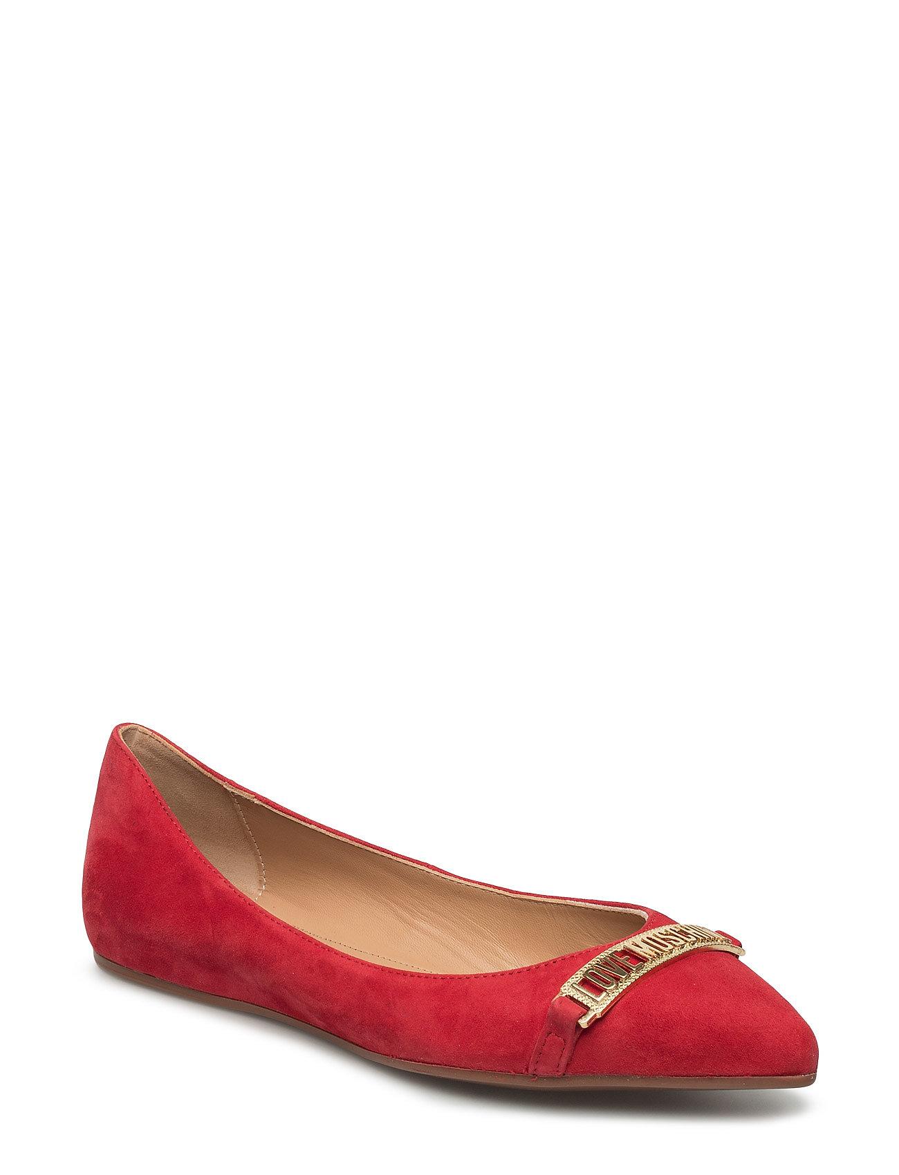 Love Moschino-Ballerina Love Moschino Ballarinaer til Kvinder i Rød