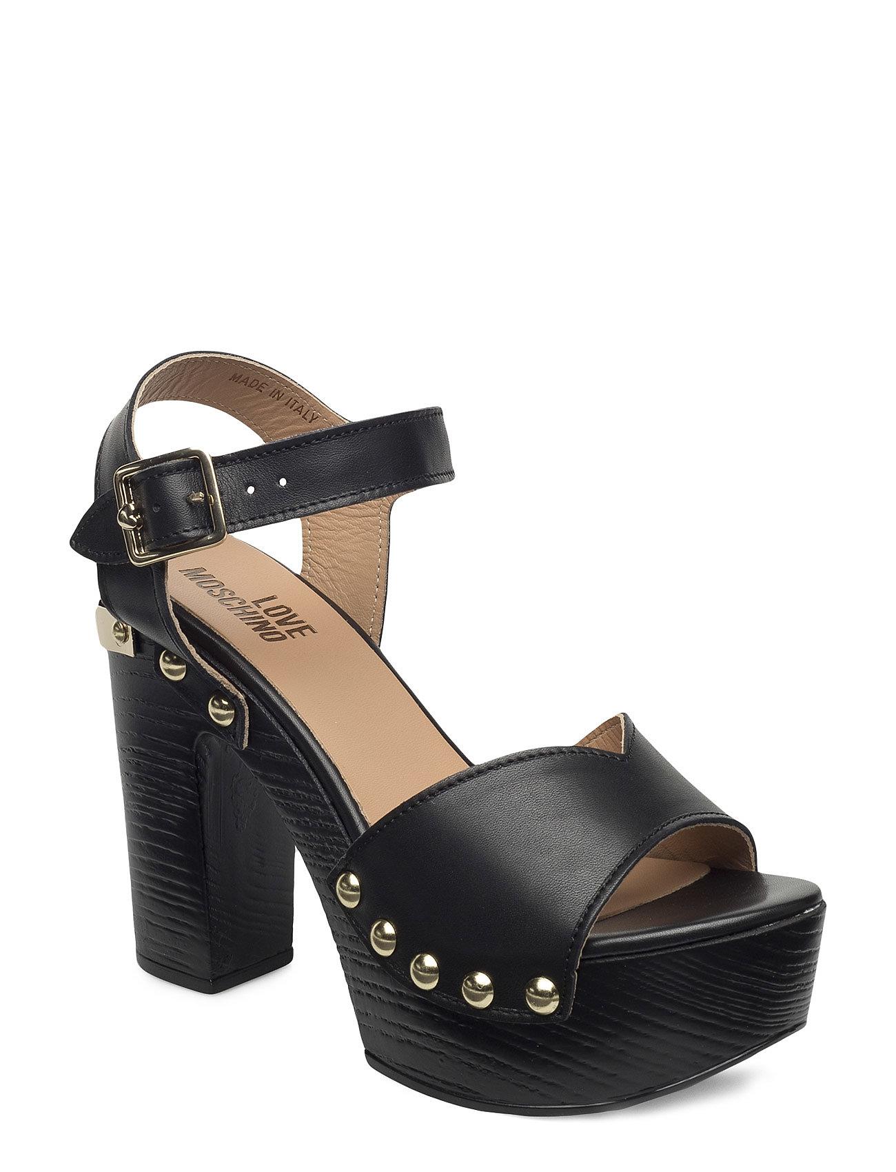 Love Moschino-Sandal Love Moschino Sandaler til Damer i Sort