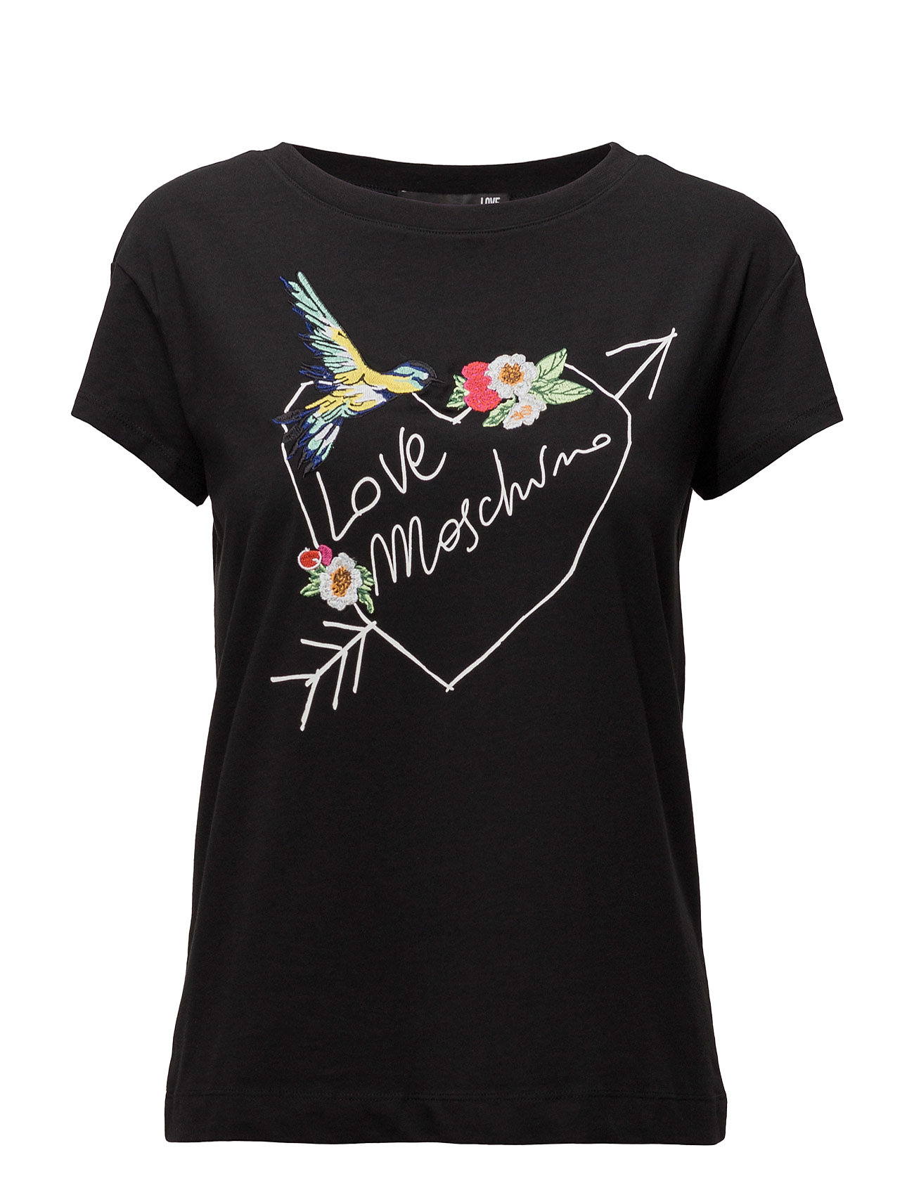 Love Moschino-T-Shirt Love Moschino Kortærmede til Damer i Sort