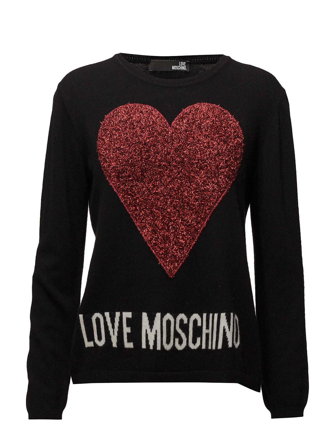 Love Moschino-Sweater Love Moschino Sweatshirts til Damer i Sort