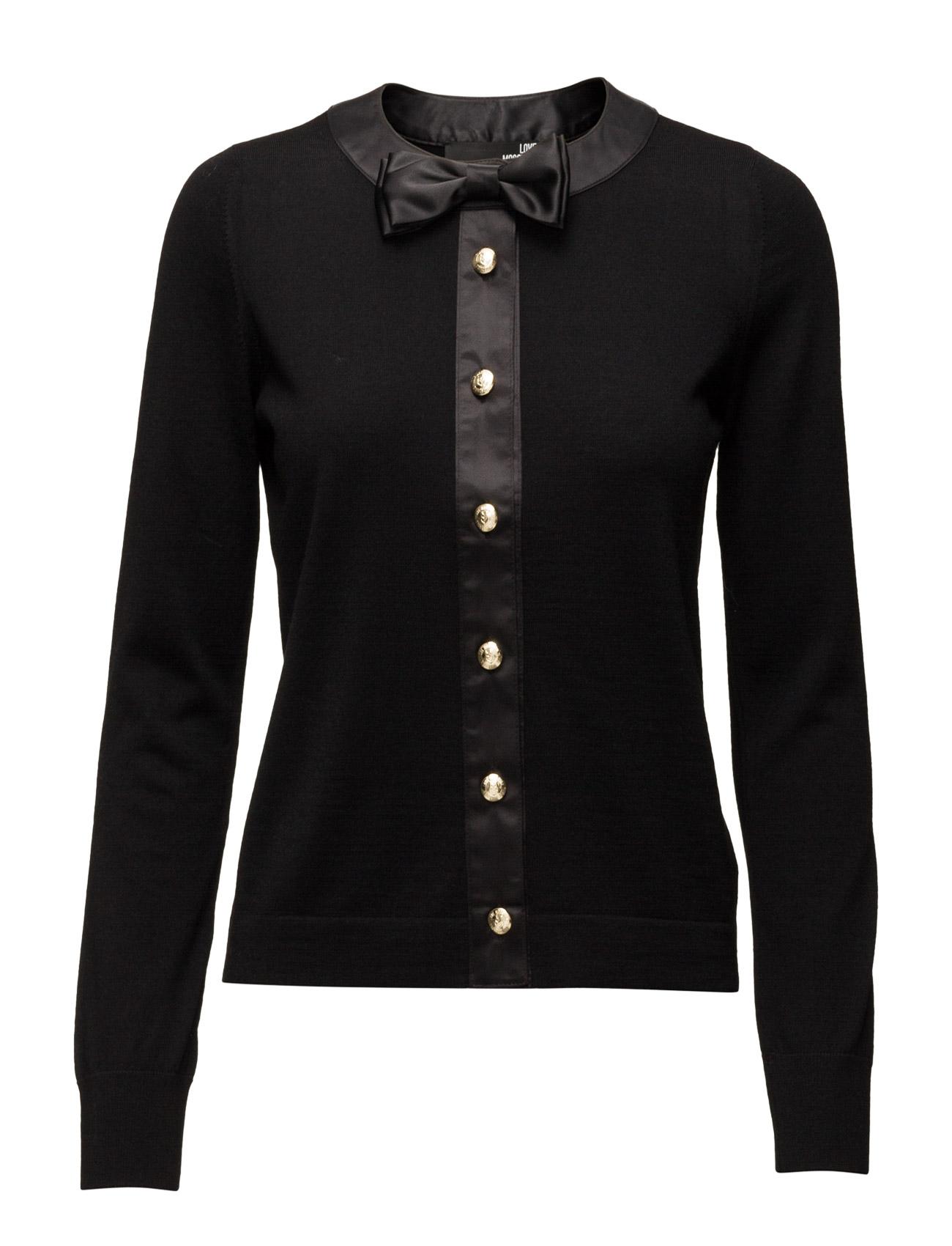 Love Moschino-Jacket Love Moschino Striktøj til Kvinder i Sort