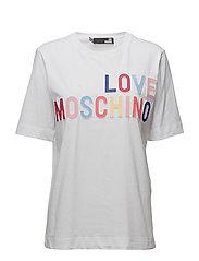 LOVE MOSCHINO-T-SHIRT - OPTICAL WHITE