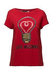 LOVE MOSCHINO-T-SHIRT - RED