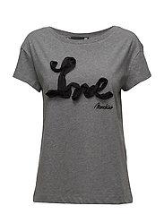 LOVE MOSCHINO-T-SHIRT - MEL.DARK GRAY