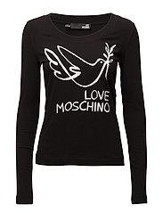 LOVE MOSCHINO-T-SHIRT - BLACK