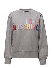 LOVE MOSCHINO-SWEATSHIRT - MEL.LIGHT GRAY