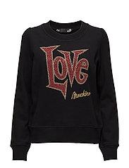 LOVE MOSCHINO-SWEATSHIRT - BLACK
