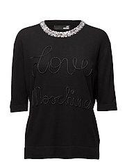 LOVE MOSCHINO-SWEATER - BLACK
