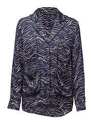 Bluemoon Pyjama Shi - 809-ZEBRA BURNISHED LILAC