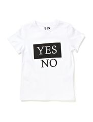 LPB YES/NO SS TEE - White
