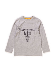LPB PSLS TEE - BULL - Light Grey Melange