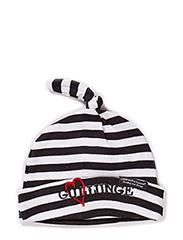 Cap, striped, Älskling - BLACK/WHITE GULLUNGE
