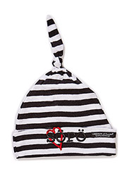 Cap, striped, Älskling - Black/white söpö