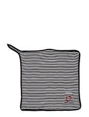 Blanket 80x80 cm - blk/wht