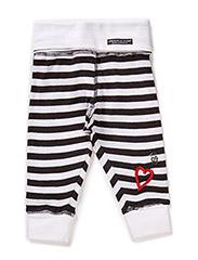 Pants, striped - blk/wht