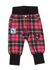 Pants, harem - RED/BLACK