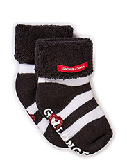 Sock, striped - blk/wht gullunge