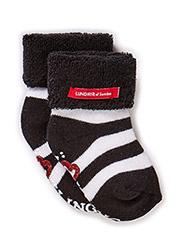 Sock, striped - blk/wht älskling