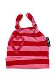 Cap, striped - Pink