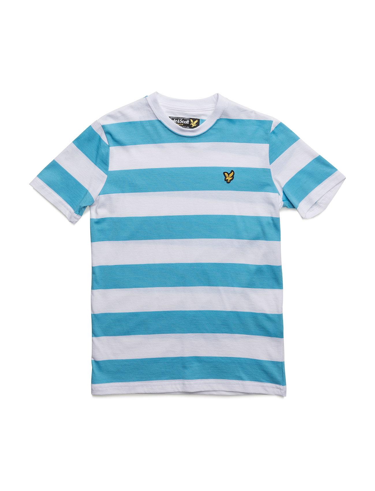 Lyle & Scott Bold Stripe T-Shirt Lyle & Scott Junior Kortærmede t-shirts til Børn i