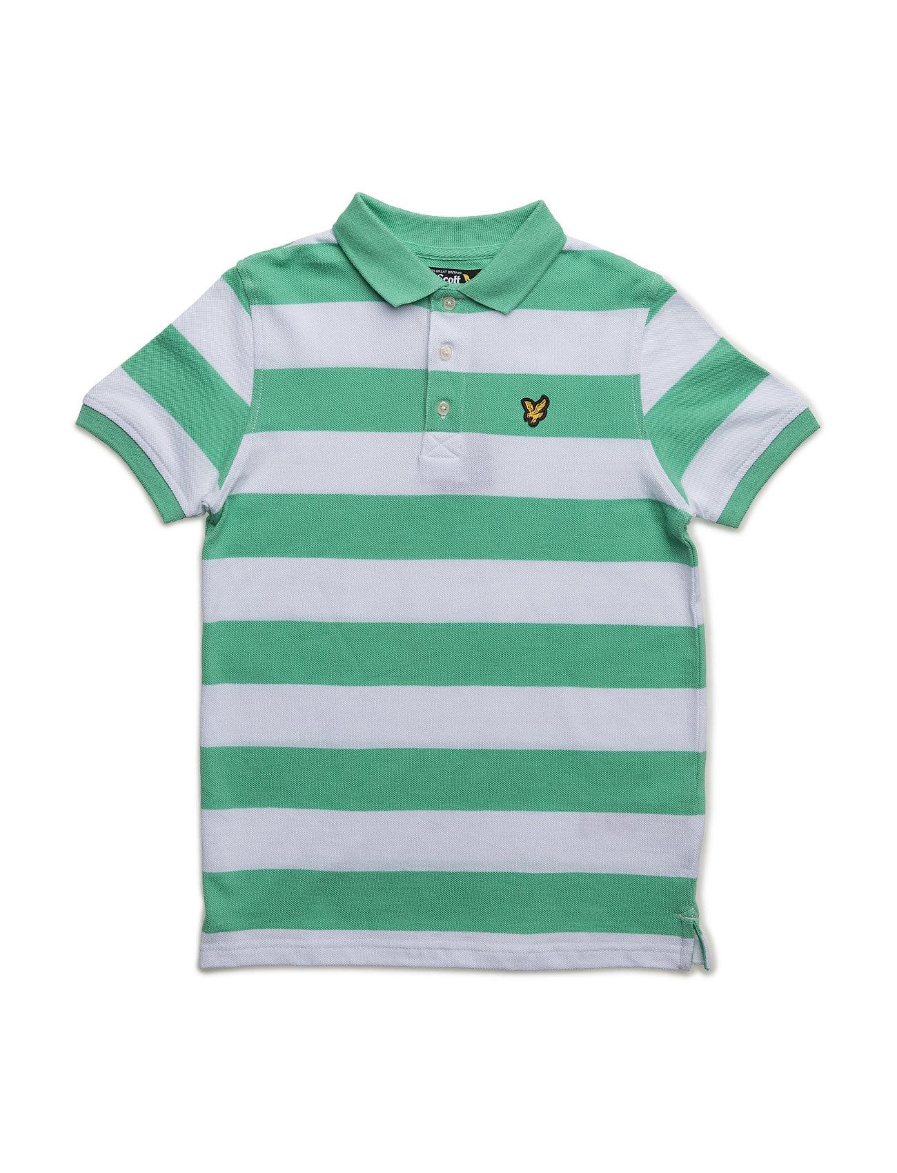 Lyle & Scott Block Stripe Polo Lyle & Scott Junior Kortærmede t-shirts til Børn i