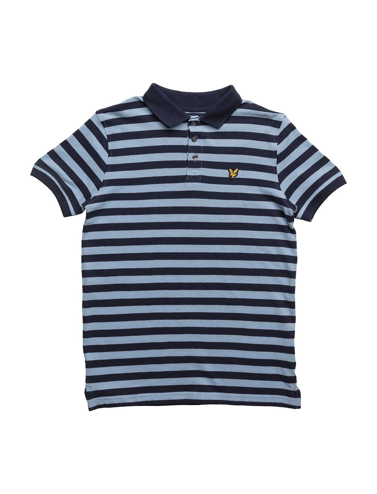 Lyle & Scott Fine Stripe Polo Lyle & Scott Junior T-shirts til Drenge i Deep Indigo