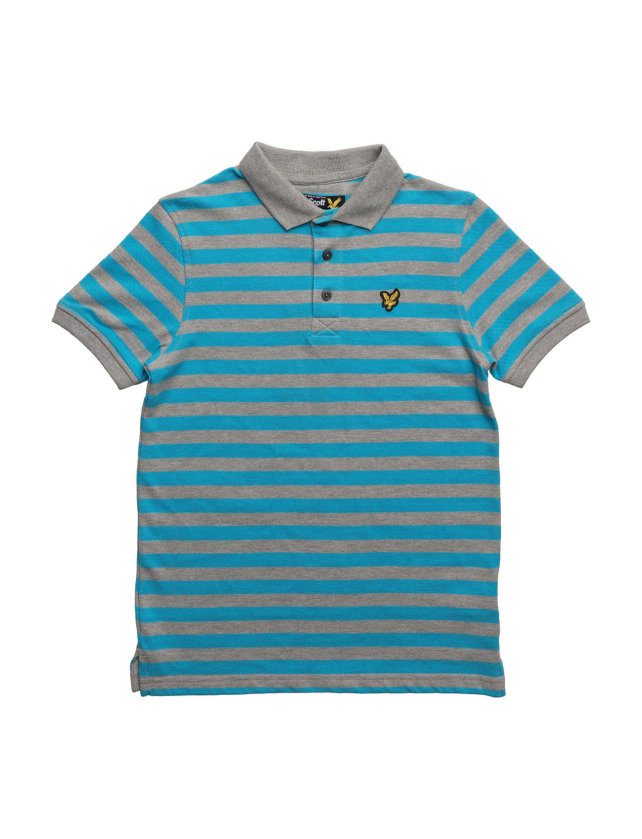 Lyle & Scott Fine Stripe Polo Lyle & Scott Junior Kortærmede t-shirts til Børn i