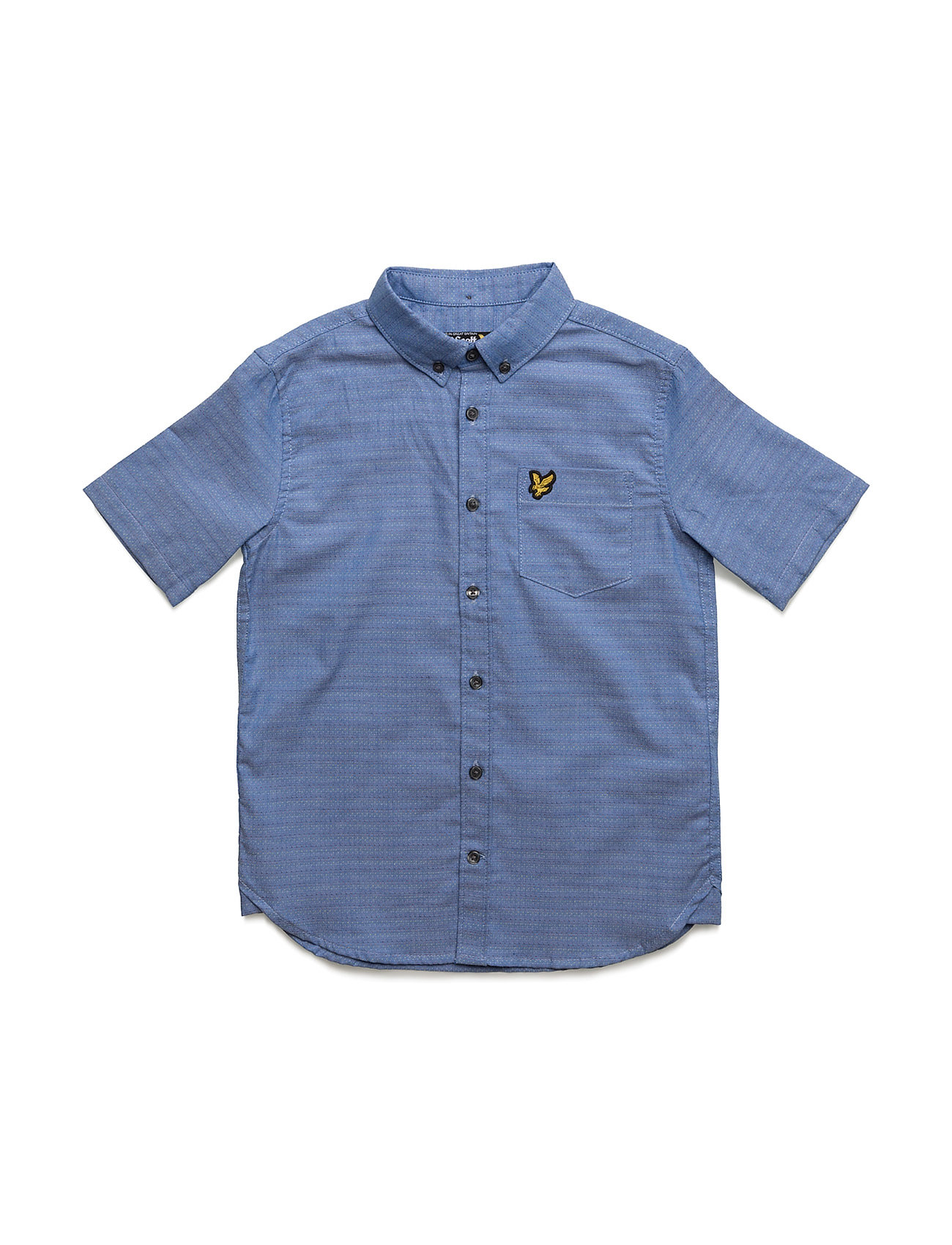 Lyle & Scott Running Stitch Shirt Ss Lyle & Scott Junior  til Børn i Blå
