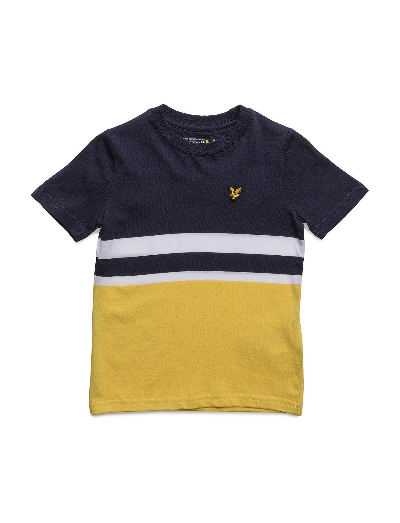 Lyle & Scott Block Stripe T-Shirt Lyle & Scott Junior Kortærmede t-shirts til Børn i